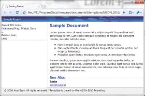 MSDN 2010 Template for HelpStudio 3